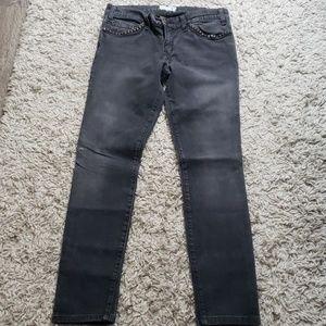 Current Elliot studded skinny jeans